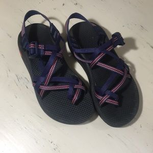 Chaco Sandals in Navy and Orange (size 7)
